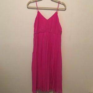 ASOS midi pink dress